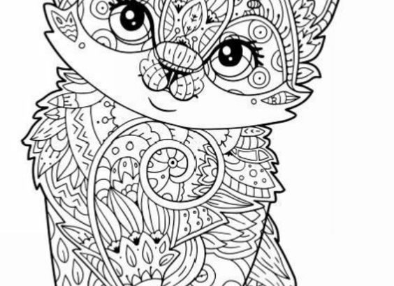 Coloriage Chaton Chat Coloriage Chat Art Therapie Chat Chaton Pctr Up